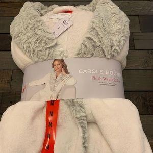 New Carole Hochman plush wrap robe